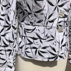 JG Hook Jackets & Coats - A Linen Blend Hook Womens Blazer Jacket Pockets